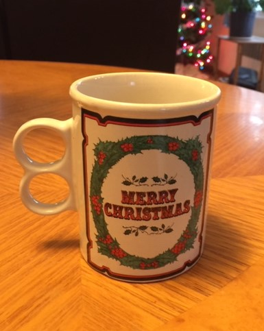 cup with words Merry Christmas