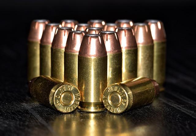 a row of bullets