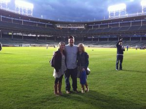 My kids on Wrigley Field!