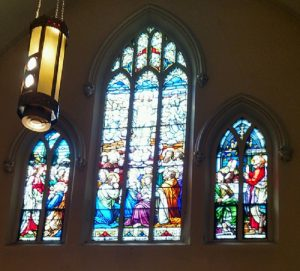 Jesus final days depicted in stained glass