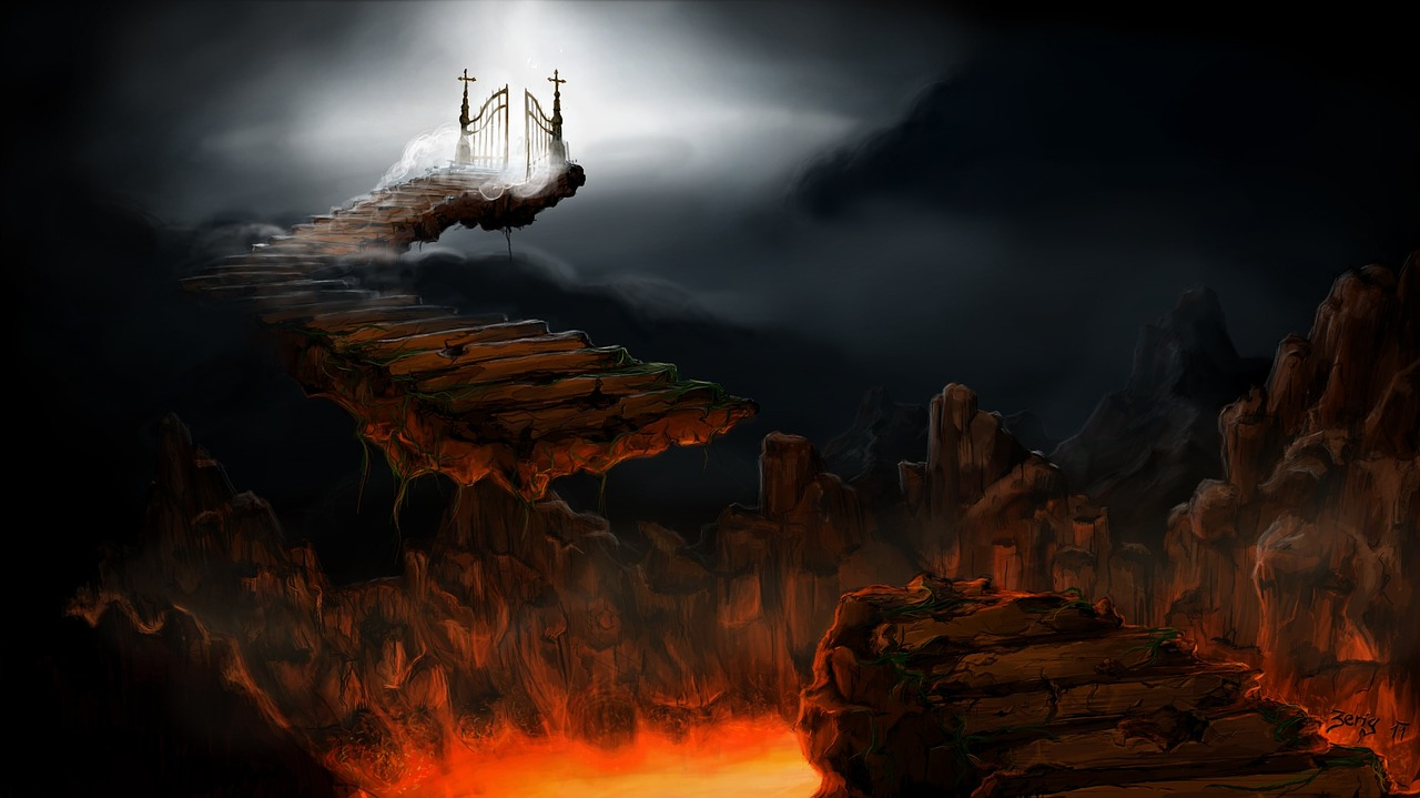 gates of heaven above the fires of hell