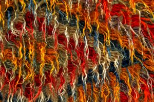 colorful woven piece of art