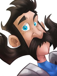 cartoon image of man